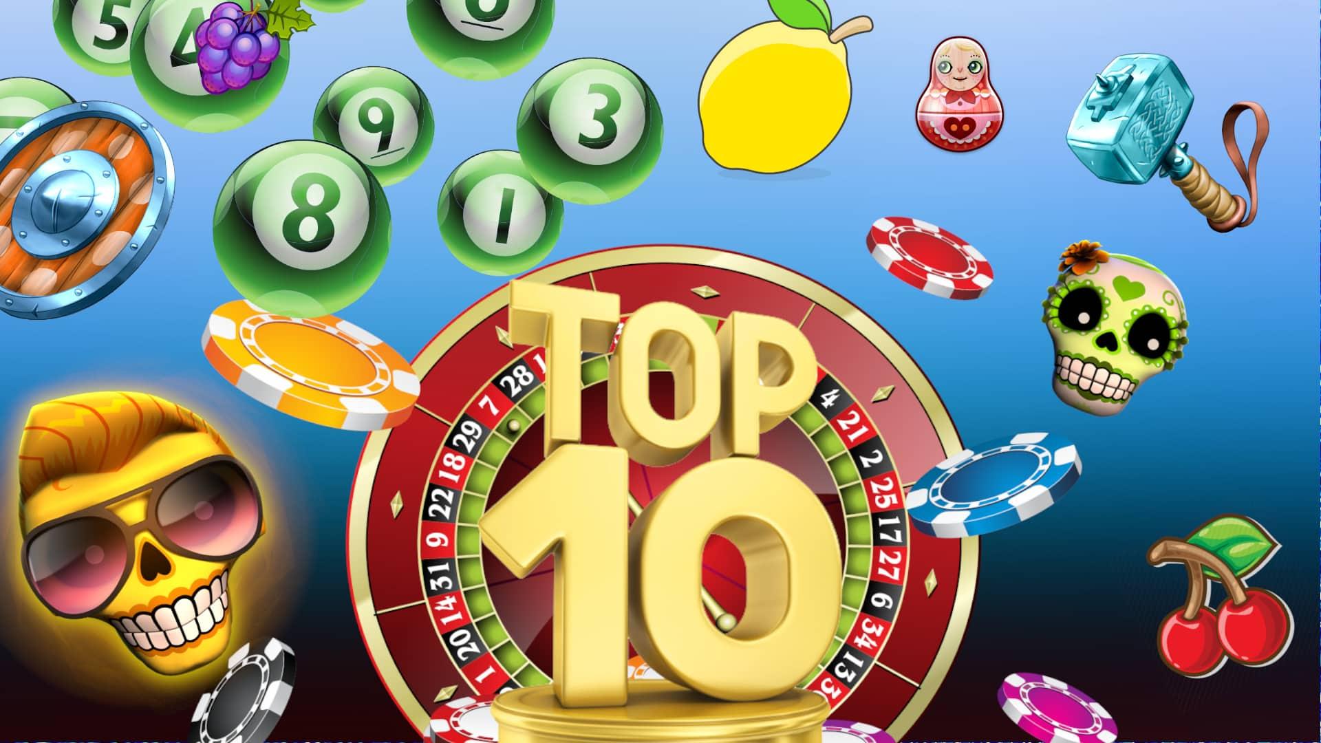 top10 1 Top 10 de juegos de casino online. ¡Diversión asegurada!
